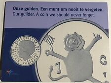"Netherlands 2001 Guilder ""The Last Guilder"" In mint packaging ""Last Gulden"""
