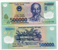 VIETNAM 500,000 500000 DONG P 124 POLYMER VND CURRENCY UNC