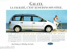 PUBLICITE ADVERTISING 126  1996  la  Ford Galxy  air bag de série