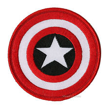 Marvel Avengers Captain America Circular Shield Embroidered IRON ON Patch Badge