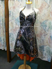 'Erika Lyn' Custom CAMO Prom Wedding Bridesmaids Halter Hi-Lo Dress