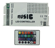 Music Sound Activated 3xChannel RGB LED Strips Controller 12V 9A w/  IR Remote