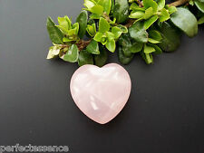 Rose Quartz Crystal Puff Heart - 25mm - Gemstone, Tumblestone - Love & Fertility