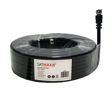 20m Black RG6 Satellite Coax Cable Coaxial Lead for Sky HD TV Antenna Freesat