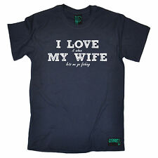 I Love It When My Wife Lets Me Go Fishing T-SHIRT Fish Hook Funny Gift Christmas