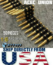 1/6 Scale 7.62 Caliber 50PCS Metal Machine Bullet Chain - U.S.A SELLER