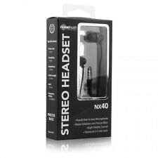 NoiseHush NX40 Black 3.5mm Stereo Headphones with Noise Isolation & Precise Bass