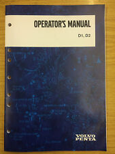 Volvo Penta D1 and D2 Operators Manual  (D1-13, D1-20, D1-30, D2-40)