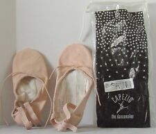 NLA Canvas CAPEZIO Ballet Pink FLEXUS Split Sole SLIPPER Sz 5 M Dance NEW