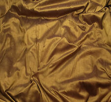 "Silk DUPIONI Fabric DEEP BRONZE fat 1/4 18""x27"" remnant"