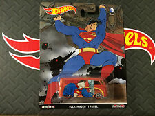 2016 Hot Wheels *SUPERMAN* VOLKSWAGEN T1 Panel Van Real Riders *DC COMICS*