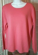 Charter Club Womens XL Cashmere 2Ply Bubblegum PInk Longsleeve Pullover(1