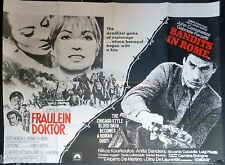 FRAULEIN DOKTOR BANDITS IN ROME 1969 QUAD POSTER SUZY KENDALL JOHN CASSAVETES