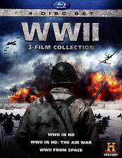 WWII World War II  3-Film Collection (Blu-ray Disc, 2013, 4-Disc Set) New Sealed