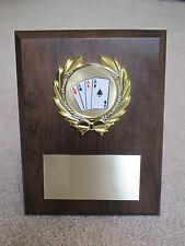 Poker/Card Playing/Blackjack/Texas Hold'em Award Plaque 6x8 Trophy FREEengraving