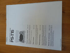SONY PS-T15 Instruction Owner's Manual - Bedienungsanleitung
