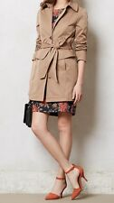Anthropologie Corin Peplum Trench by Tracy Reese Petite P XS