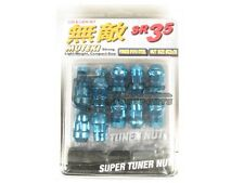 Muteki SR35 Extended Closed Ended Wheel Tuner Lug Nuts Chrome Blue 12x1.5mm NEW