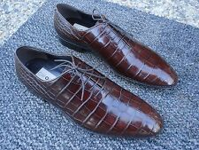 **$2,995.00 Exquisite, Super Elite, Caporicci Brown  ALLIGATOR SKIN Shoe Size 10