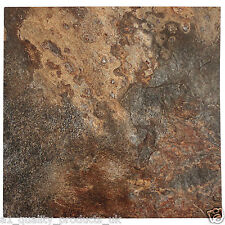 60 x Vinyl Floor Tiles - Self Adhesive - Bathroom Kitchen BN Weathered Stone 194