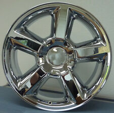 "Set (4) 20"" Chevy Tahoe LTZ Replica Wheels Rims Chrome Finish Silverado Sierra"