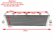 Universal medium fmic alloy intercooler taille totale: 700mm x 180mm x 65mm