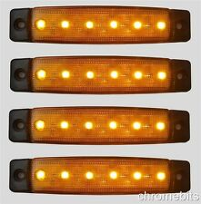 4 X ARANCIO color ambra 6 LED 24V INDICATORE LATERALE LUCE CAMION RIMORCHIO