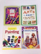 Kids Arts & Crafts Painting Costumes 4 Book Lot Homeschool Art Class Teacher
