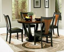 Coaster 102091 102092 Boyer 5 Piece Round Dining Table Side Chairs Set