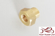 "1/4"" Female to 3/4"" Male BSP Thread Reducer Hex Bushing Pipe Fitting - BRASS"