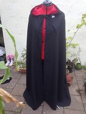 hooded cloak black  With Red lined hood more colours available