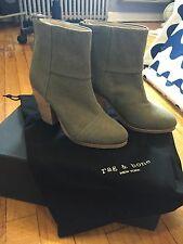 RAG AND BONE CLASSIC NEWBURRY ANKLE BOOT STONEWALL GREEN NEW SZ 6
