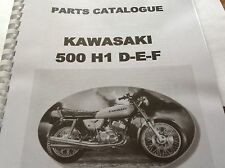 KAWASAKI H1 D E F parts catalogue KH 500 paper bound copy
