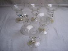 6 Kerzenschalen aus Glas , Lausitzer Glas , ungebraucht