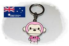 Pink Monkey Ape Enamel Metal Keyring Bag Tag Key Holder Party Loot Bag Filler