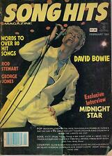 2/84 SONG HITS magazine  DAVID BOWIE cover  Rod Stewart  George Jones