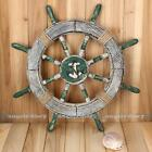 "17"" Army Green Wood Rudder Boat Ship Wheel Nautical Decor Beach Wall Decor 45cm"