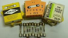AGC SLOW BLOW GLASS FUSE / .5 amp / 6x30mm / 10 PIECES /  (qzty)