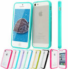 TPU Bumper Frame With Matte Clear Hard Back Case Cover For iPhone 4 4S 4G 5 5S