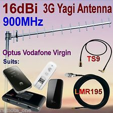 16dBi 900MHz 3G GSM Yagi Antenna OPTUS VIRGIN VODAFONE+TS9 Patch Cable+10m COAX