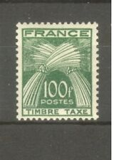"FRANCE STAMP TIMBRE TAXE N° 89 "" TYPE GERBE 100F VERT "" NEUF xx TTB"
