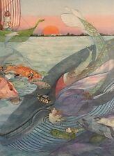 """Vintage Art Print 1977 Nancy Ekholm Burkert Book Lithograph """"The Scroobious Pip"""""""