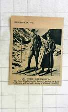 1919 The Hon Charles Ramsey With His Bride Skiing Glenesk Scotland