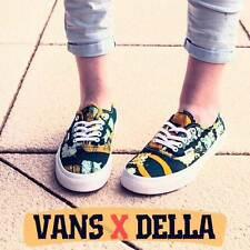 Vans AUTHENTIC (Della) Batik/Yellow Women's Shoes Size 9.5 US