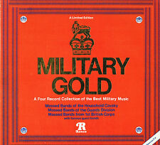 MILITARY GOLD Boxed 4 LP MARCHES Massed Bands CAVALRY Corps RONCO UK RTD4-2042
