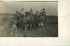 """The Whole Family On Hunting Trip, Harold in Front of Dad"" Silver Creek NE RPPC"