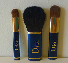Christian Dior 3 piece mini Makeup Brush Travel Set, Brand New Sealed!