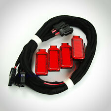 4x OEM Red Door Panel Warning Light w. Cable For Audi A3 A4 A5 A6 A7 A8 Q3 Q5 TT