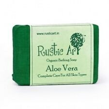 Rustic Art Organic Aloe Vera Soap ( Pack Of 2 )