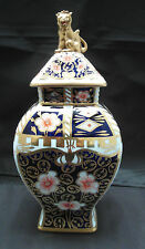 ROYAL CROWN DERBY IMARI PATERN VASE & LID, A/F